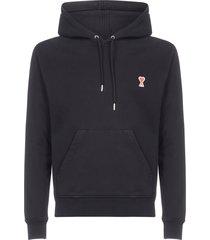 ami alexandre mattiussi ami-de-coeur logo cotton hoodie