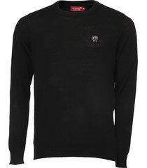 suéter mr kitsch tricot liso preto - kanui