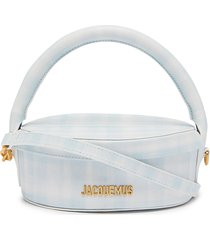 'la boite a gateaux' leather hat box bag