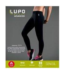 calça legging esportiva térmica sem costura antimicrobial lupo | lupo | preto | p