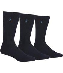 polo ralph lauren men's 3-pack crew socks