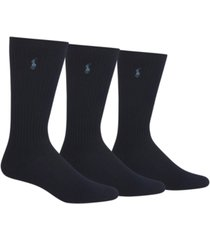 polo ralph lauren men's 3-pack crew socks