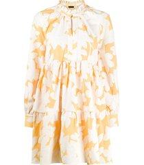 stine goya jasmine floral day dress - orange