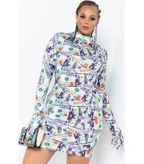 akira plus money maker glove mini dress