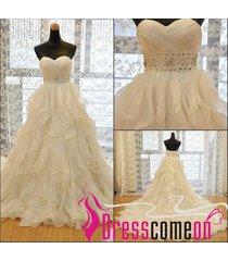 ball gown ivory wedding dress,cheap bridal dress,plus size wedding gown re265