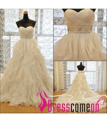 ball gown ivory wedding dress,cheap bridal dress,plus size wedding gown re265