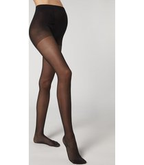 calzedonia 30 denier sheer maternity tights woman black size 3