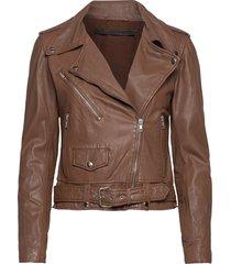 berlin leather jacket läderjacka skinnjacka brun mdk / munderingskompagniet
