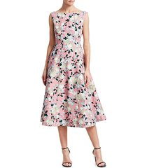 kinsey floral fit-&-flare dress