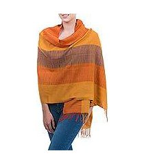 100% alpaca shawl, 'tarma sunflower' (peru)