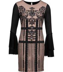 abito elegante in maglina (nero) - bodyflirt boutique