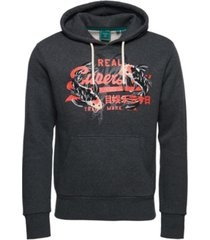 superdry men's retro logo rising sun hoodie