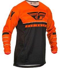jersey naranja/negro/blanco fly k120