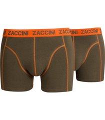 zaccini boxershort 2-pak army groen