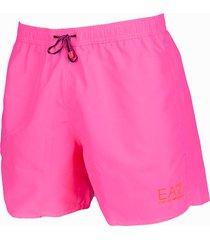 armani zwembroek ea7 logo roze fluor