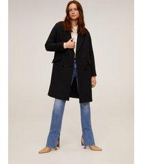 gestructureerde jas met revers