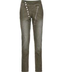 pantaloni elasticizzati con abbottonatura asimmetrica (verde) - rainbow