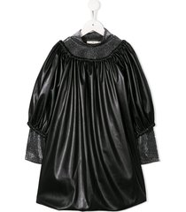 andorine oversized faux-leather dress - black
