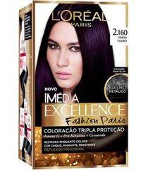 coloração imédia excellence l'oréal paris - fashion paris 2.160 preto couro