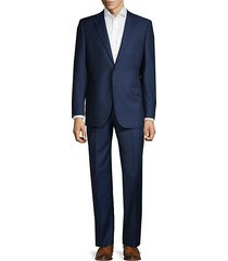 classic-fit wool & silk blend suit
