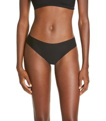 commando butter thong, size x-small in black at nordstrom