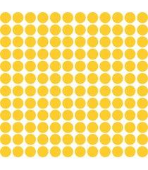 adesivo de parede bolinhas amarelas 144un - amarelo - dafiti