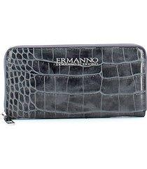 ermanno scervino womens gray wallet