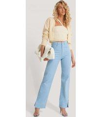 queen of jetlags x na-kd jeans med slits i sidan - blue
