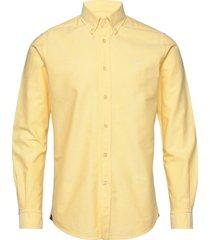 andré button down shirt overhemd business geel morris