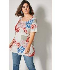 shirt sara lindholm zand::rood