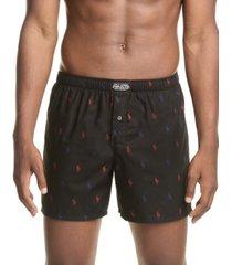 polo ralph lauren men's signature-print woven cotton boxers