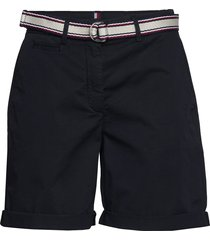 gmd cotton tencel slim bermuda bermudashorts shorts svart tommy hilfiger