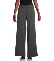 saks fifth avenue women's wide-leg pants - chalkboard - size s