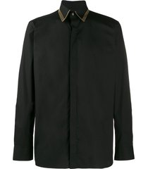 fendi italian-style collar shirt - black
