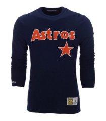 mitchell & ness houston astros men's slub long sleeve t-shirt