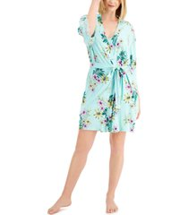 inc international concepts lace-trim knit wrap robe, created for macy's