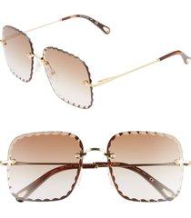 women's chloe rosie 59mm square sunglasses -