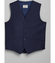 jos. a. bank men's 1905 navy collection tailored fit suit separates vest - big & tall clearance, bright navy, 54 x long