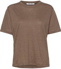 doretta t-shirt 6680 t-shirts & tops short-sleeved brun samsøe samsøe