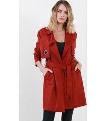chaqueta gamuza largo alexia terracota night concept