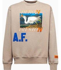 heron preston crewneck os heroes sweatshirt hmba014r21jer0036145