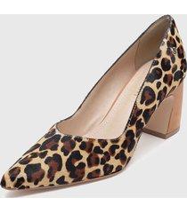 zapato de vestir leopardo multicolor pollini