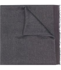 faliero sarti fringed-edge scarf - grey