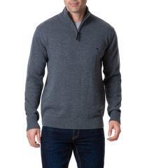 men's rodd & gunn merrick bay sweater, size xx-large - grey