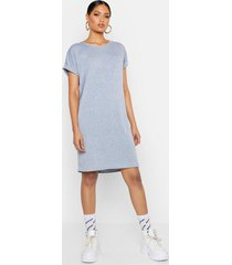 tall oversized t-shirt dress, grey marl