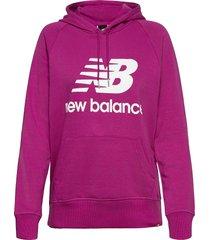 essentials pullover hoodie hoodie trui paars new balance