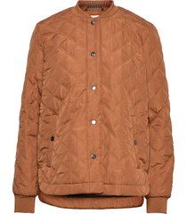 kajulie quilted jacket doorgestikte jas bruin kaffe