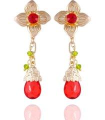 nanette nanette lepore winter garden flower drop earrings