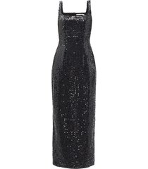 basset scoop-neck sequinned mini dress