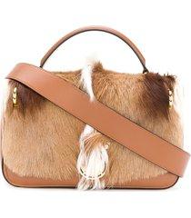 balmain small shoulder bag hand - brown